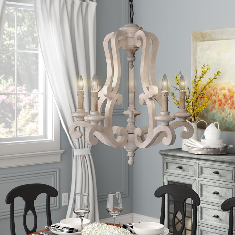 Bella 5 - Light Candle Style Classic / Traditional Chandelier