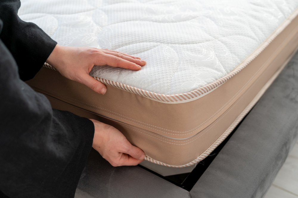 Orthopedic memory foam mattress with soft topper