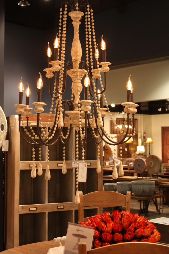 Chandeliers are ideal for a shabby chic room