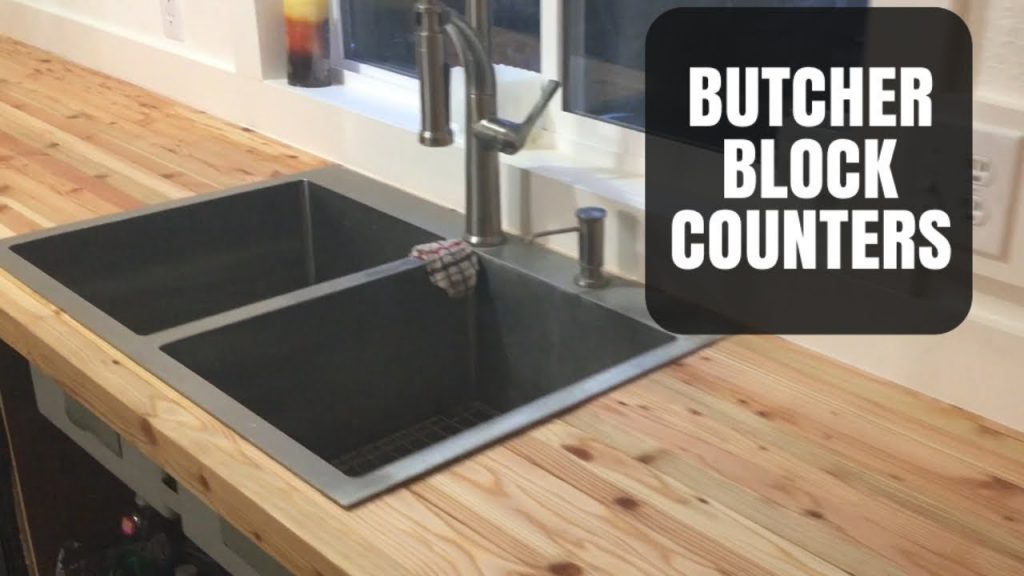 Butcher Block Counter Made From 2x3 Lumber