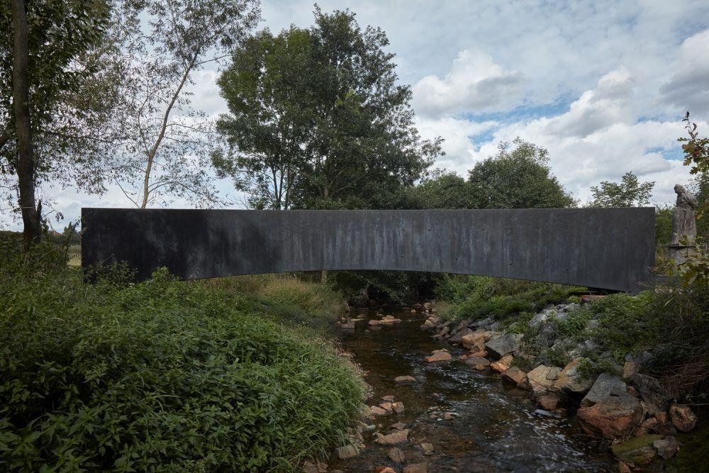 black concrete - Bridge over the Dřetovice stream - Czech Republic