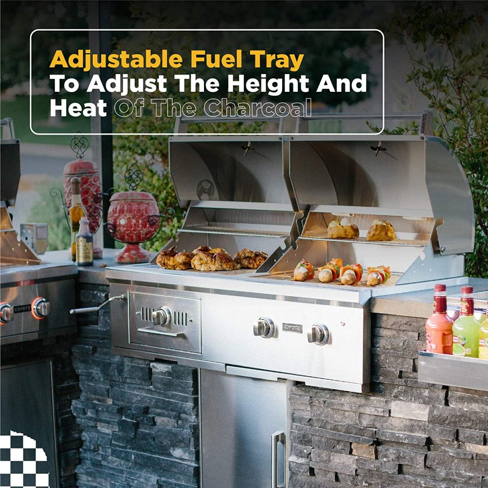 Coyote Centaur 50-Inch Built-In Propane Gas/Charcoal Dual Fuel Grill