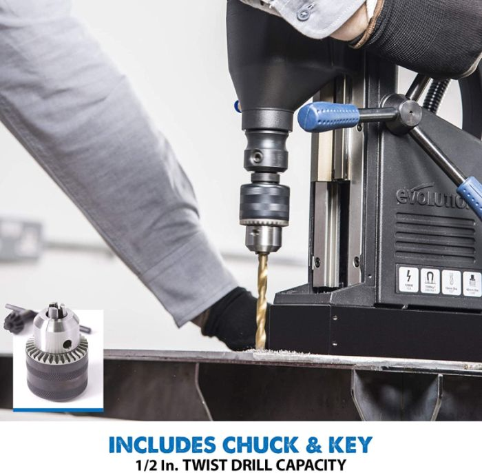 Evolution Heavy Duty 1-1/8 inch Industrial Magnetic Drill