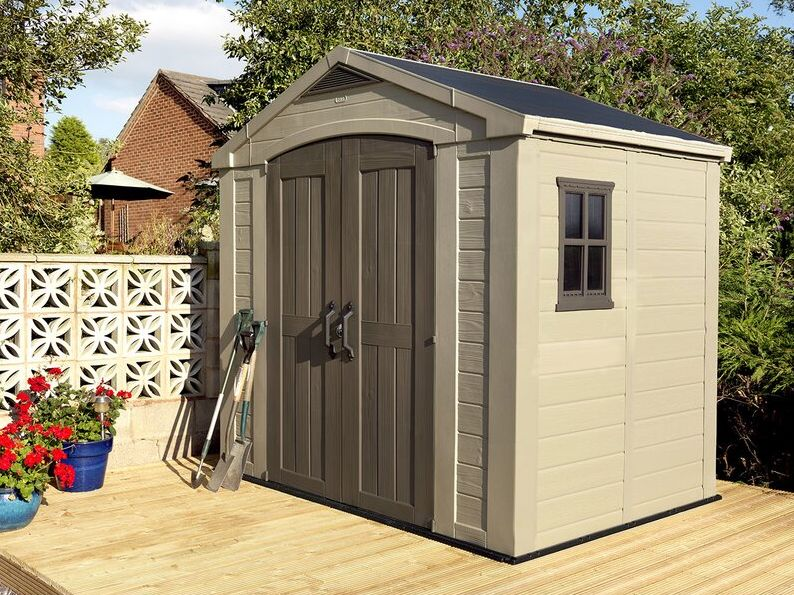 Factor 8 ft. W x 6 ft. D Plastic Storage Shed