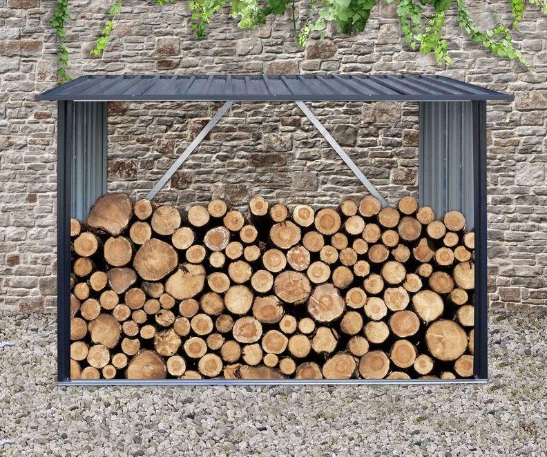 Galvanized Steel Woodshed Log Rack