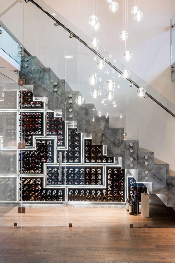 Gorgeous Modern Wine Room. The Stylish Wine Lovers Dream