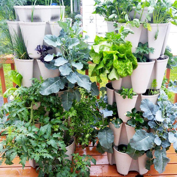 GreenStalk Patented Large 5 Tier Vertical Garden Planter