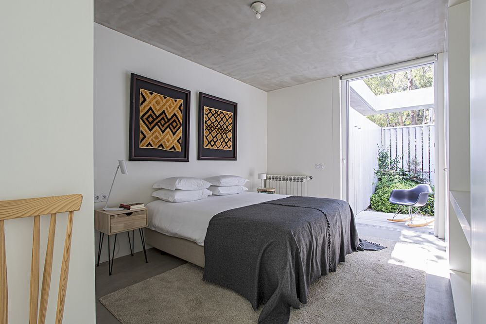 This bedroom has its own little courtyard which brings plenty of sunlight in