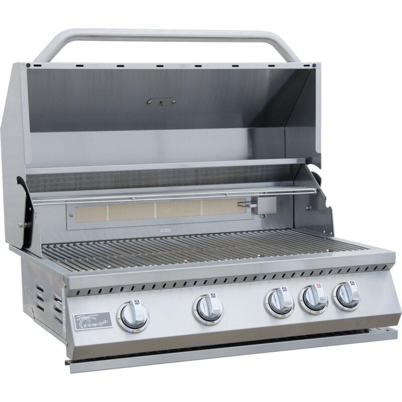 Kokomo Grills 4-Burner Built-In Convertible Gas Grill