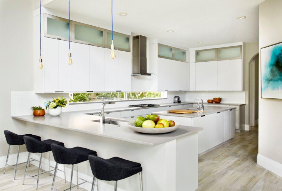Kitchen with Add a small window for backsplash