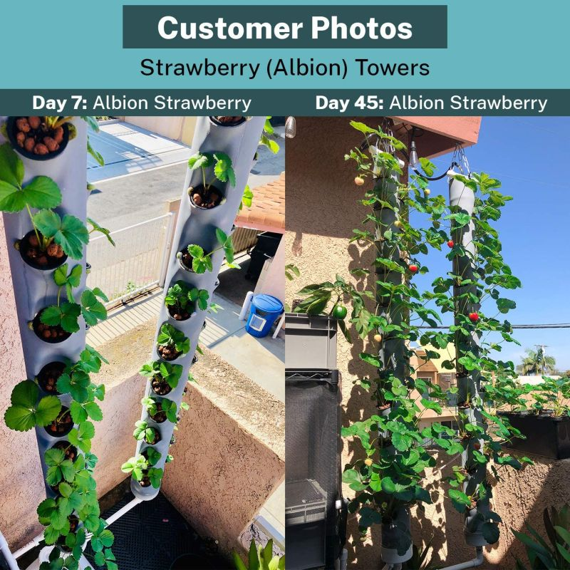 PVC Vertical Grow Tower Add-on for Hydroponics