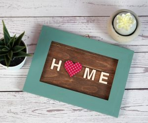 DIY Popsicle Stick Wall Art for A Welcoming Home