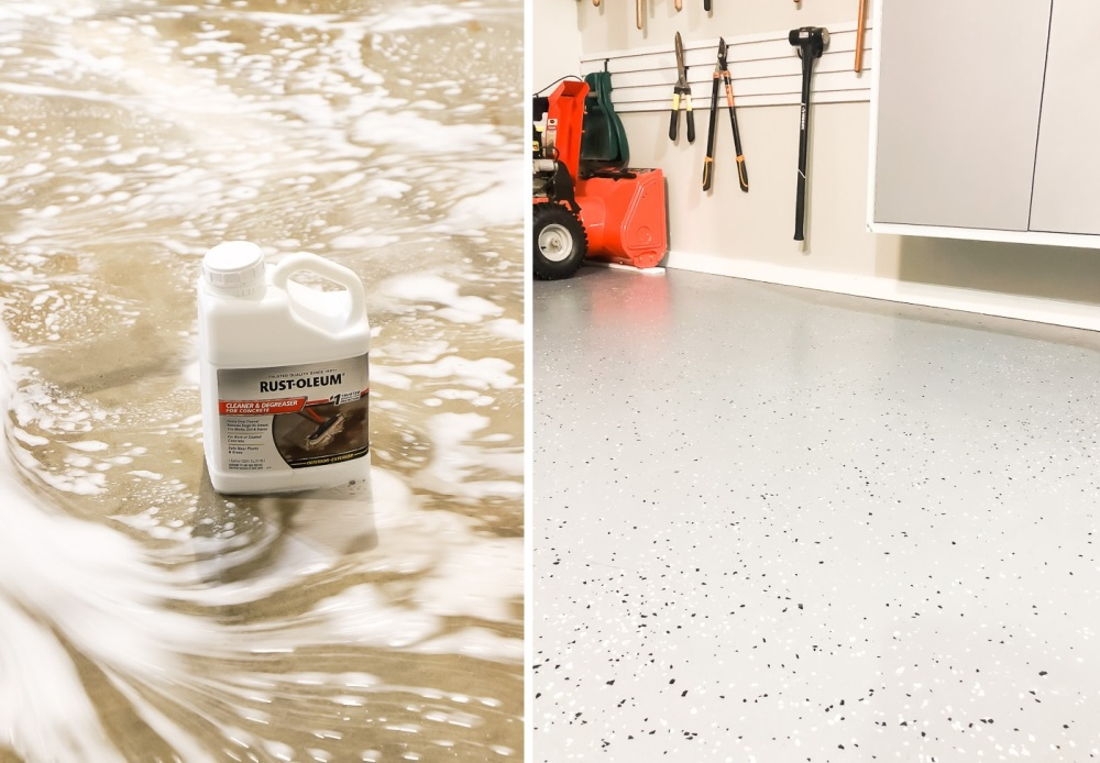 How to paint your garage floors