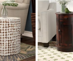 Round End Tables Can Open Up a Space – On-trend and Timeless
