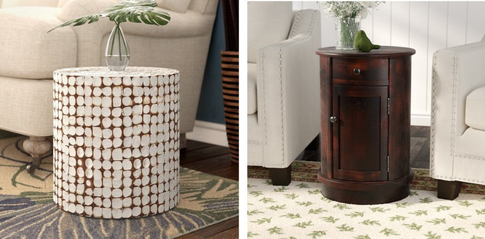 Round End Tables Can Open Up a Space