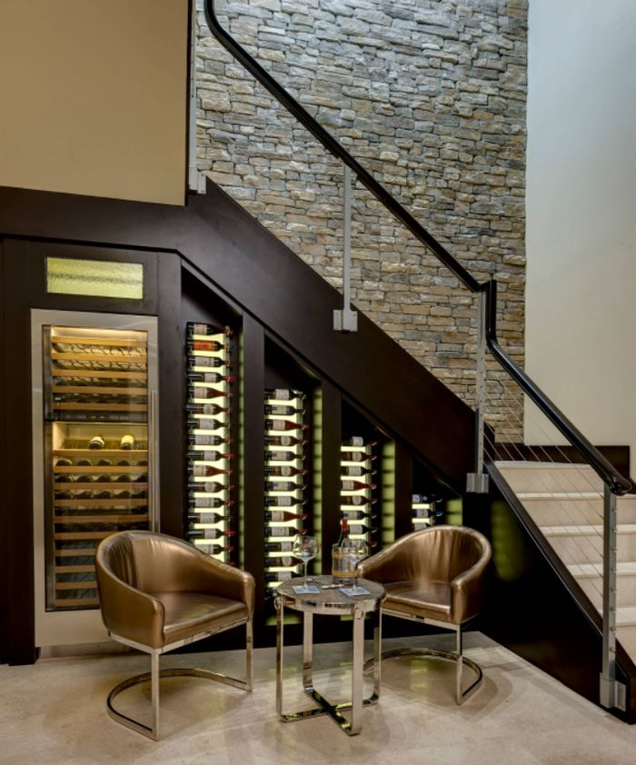 Stylish Custom-Made Wine Cellars That Fit Under The Stairs