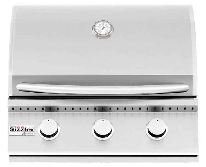 Summerset Sizzler 26-Inch 3-Burner Built-In Natural Gas Grill