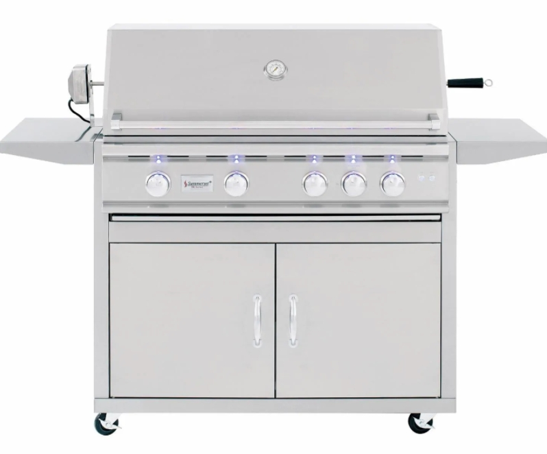 Summerset TRL 38-Inch 4-Burner Propane Gas Grill With Rotisserie