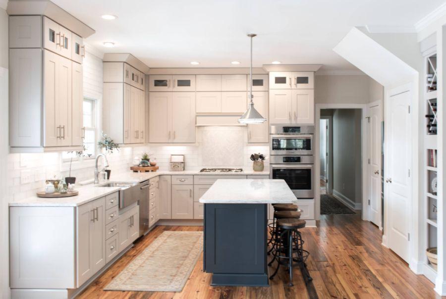 Warm neutral kitchen decor