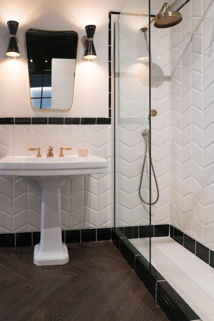 standard shower valve height