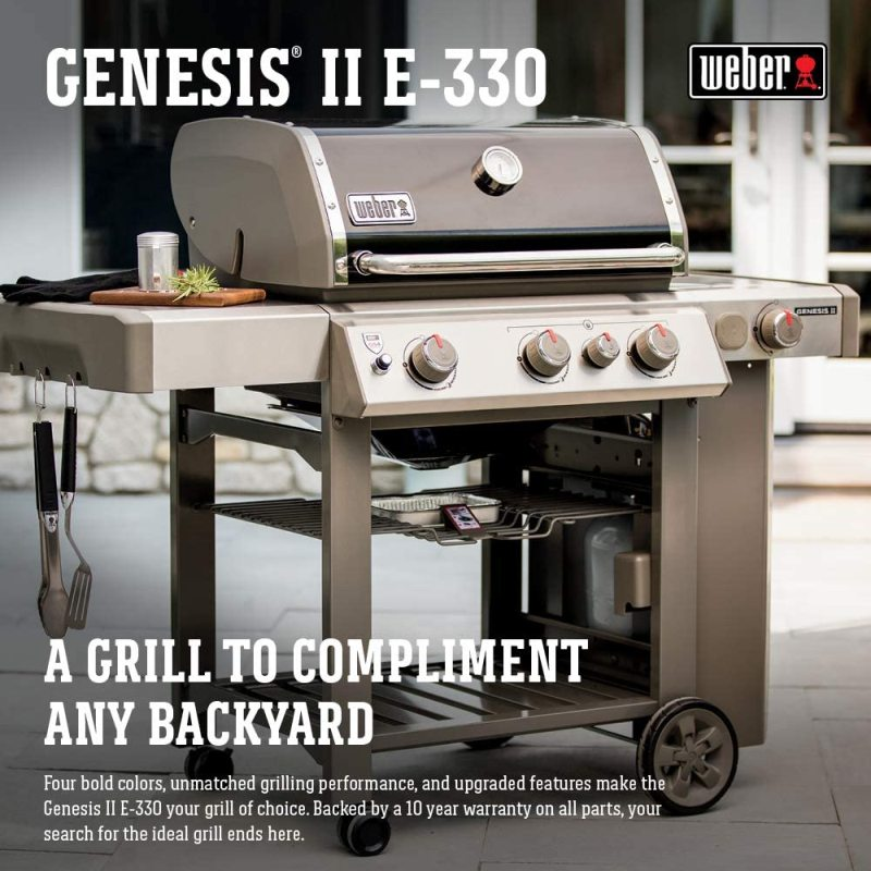 Weber 61012001 Genesis II E-330 3-Burner Liquid Propane Grill
