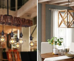 Wood Light Fixtures That Will Add a Bid Dose of Drama to Your Room