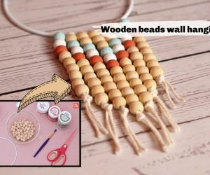 DIY Wall Hanging Decor Made With Wooden Beads