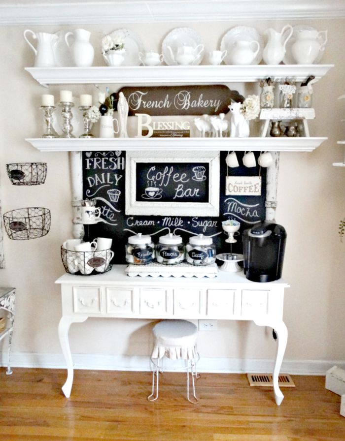 Coffee Station Design Ideas For Bright And Cheerful Mornings
