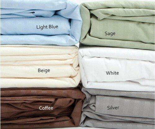 400 Thread Count Striped 100% Cotton Sheet Set