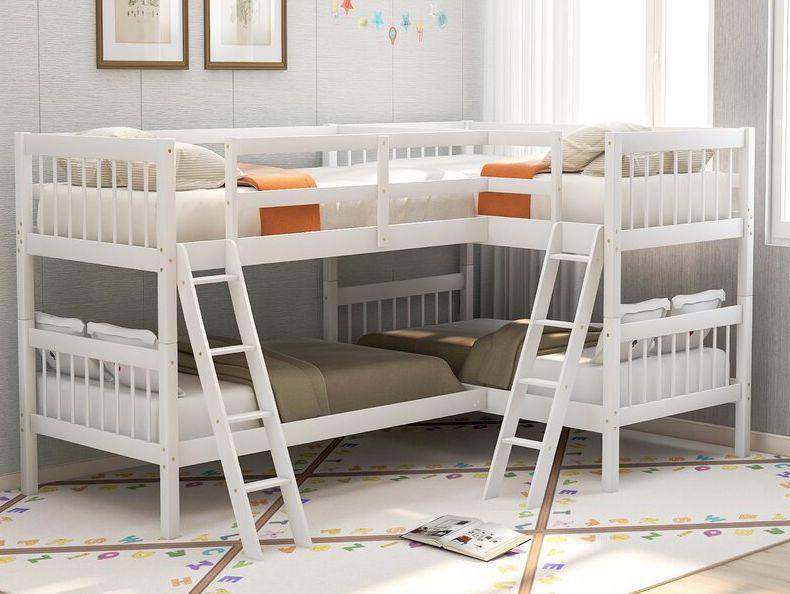 Abigel Twin L-Shaped Bunk Bed