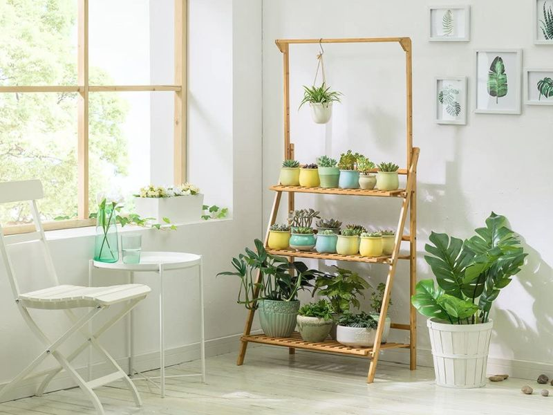 Bamboo 3-Tier Hanging Plant Stand