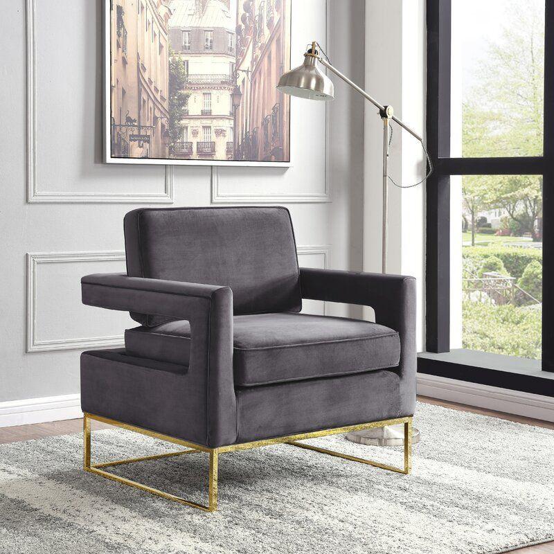 Binghamton Tufted Velvet Armchair
