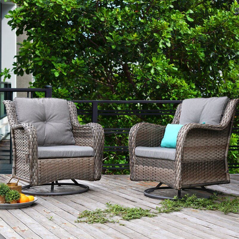 Brice Rocking Swivel Patio Chair with Cushions