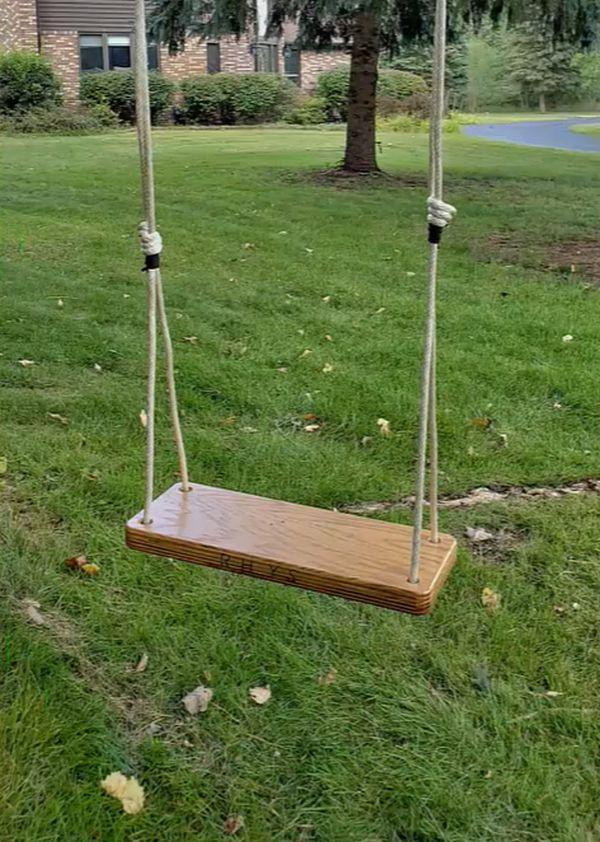 Build a Wood Tree Swing