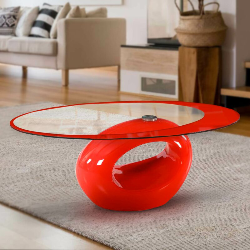 Cantu Abstract Coffee Table with Storage
