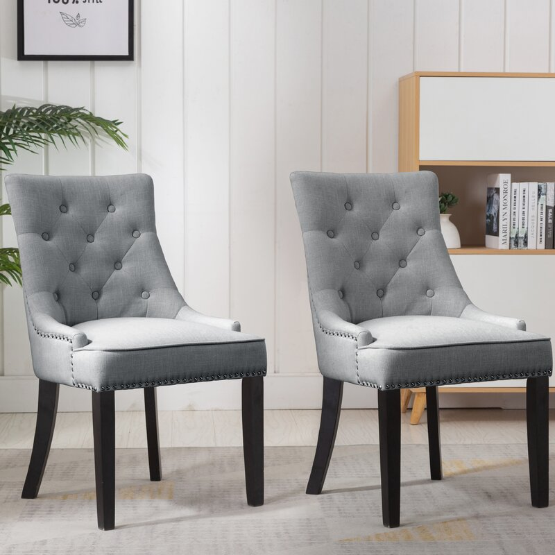 Charlack Tufted Linen Parsons Chair