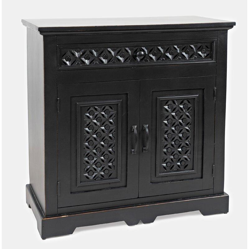 Black Chevell 2 Door Accent Cabinet