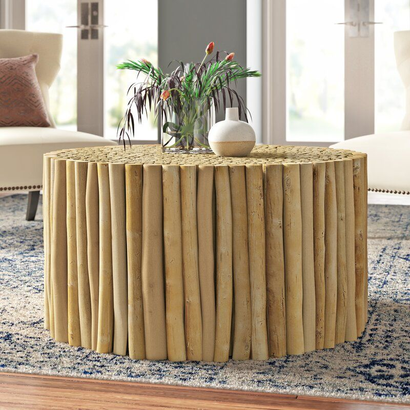 Clery Solid Wood Drum Coffee Table