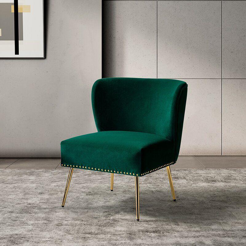 Green Clive Velvet Side Chair