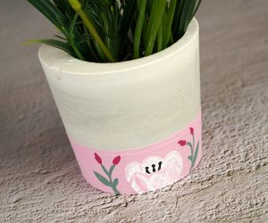 DIY Concrete Planter – How To Make And Decorate One From Scratch
