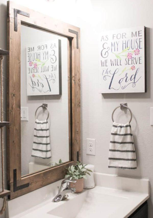 An updated bathroom mirror