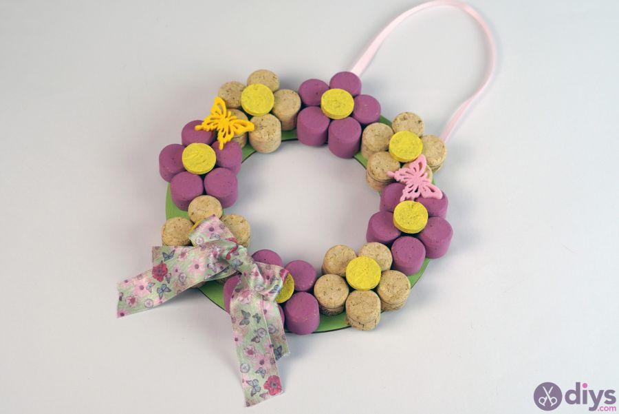 Cute flowers made of cork