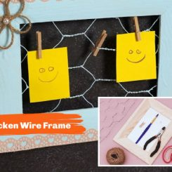 DIY Chicken Wire Frame With A Cute Twine Flower