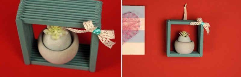 How To Make A Small Decorative Shelf Out Of Popsicle Sticks
