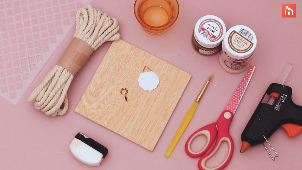 Materials needed to make a decorative candle holder:
