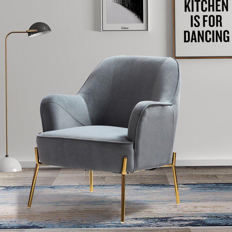 Dallin Tufted Velvet Armchair