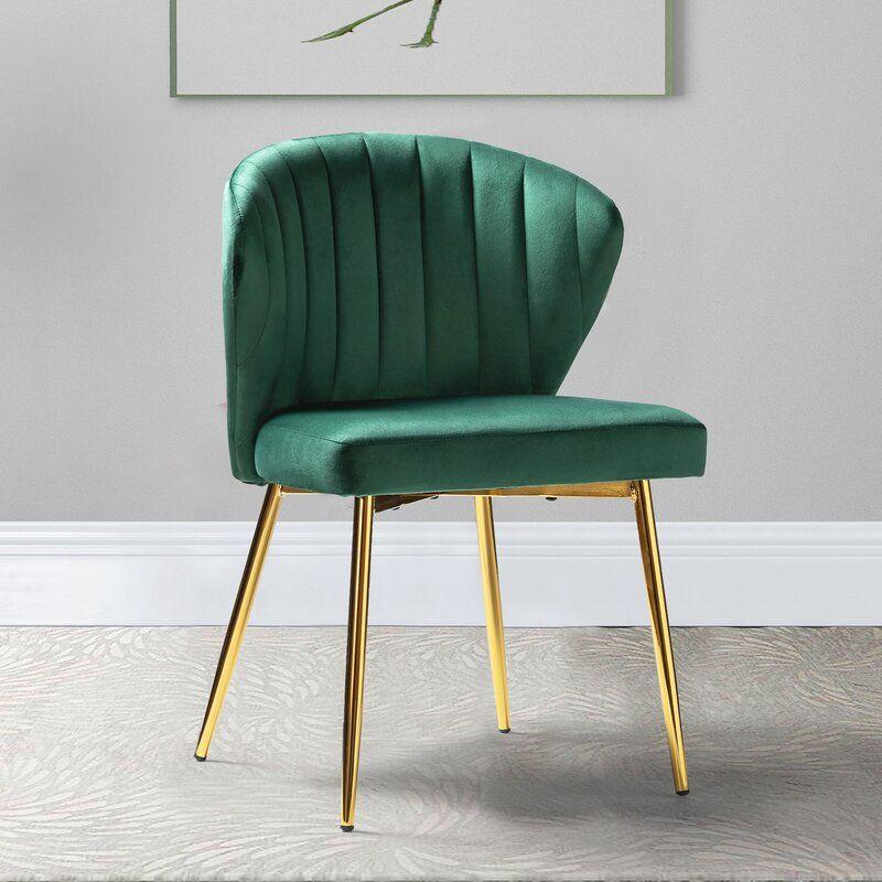 Green Daulton Velvet Side Chair