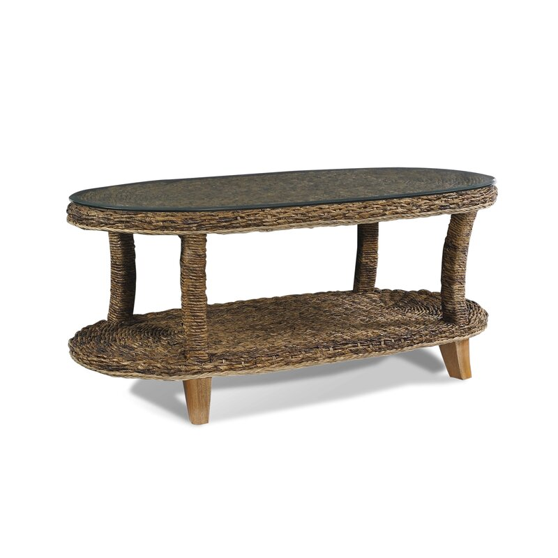 Decastro Glass Oval Coffee Table