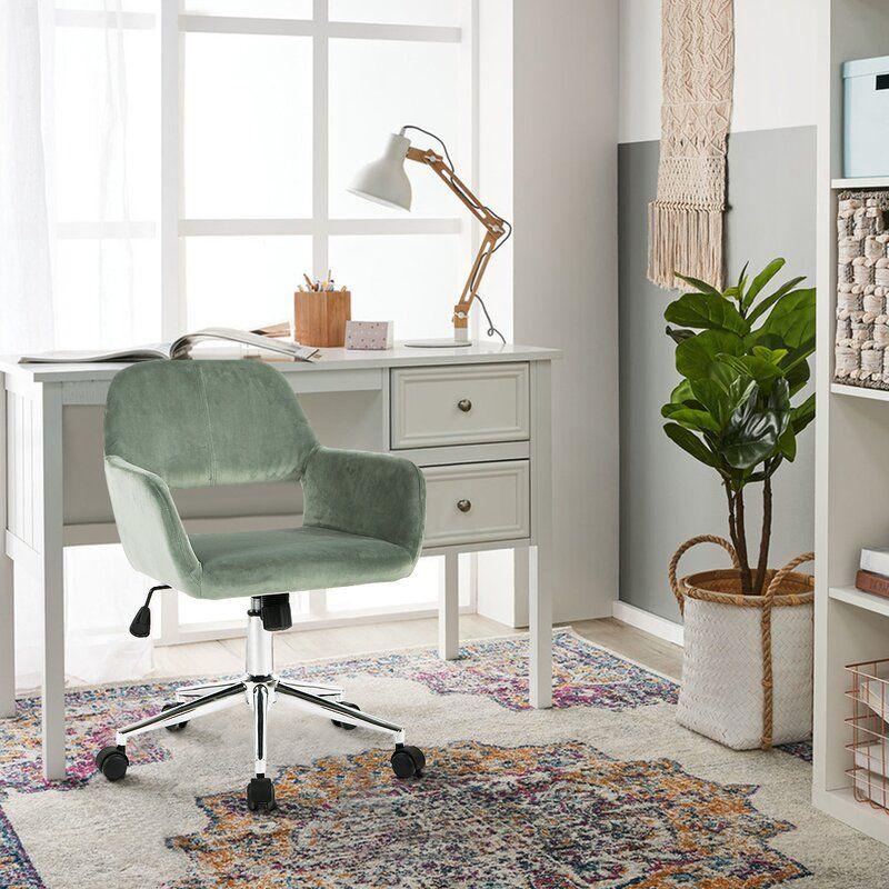Green Elliana Velvet Task Chair