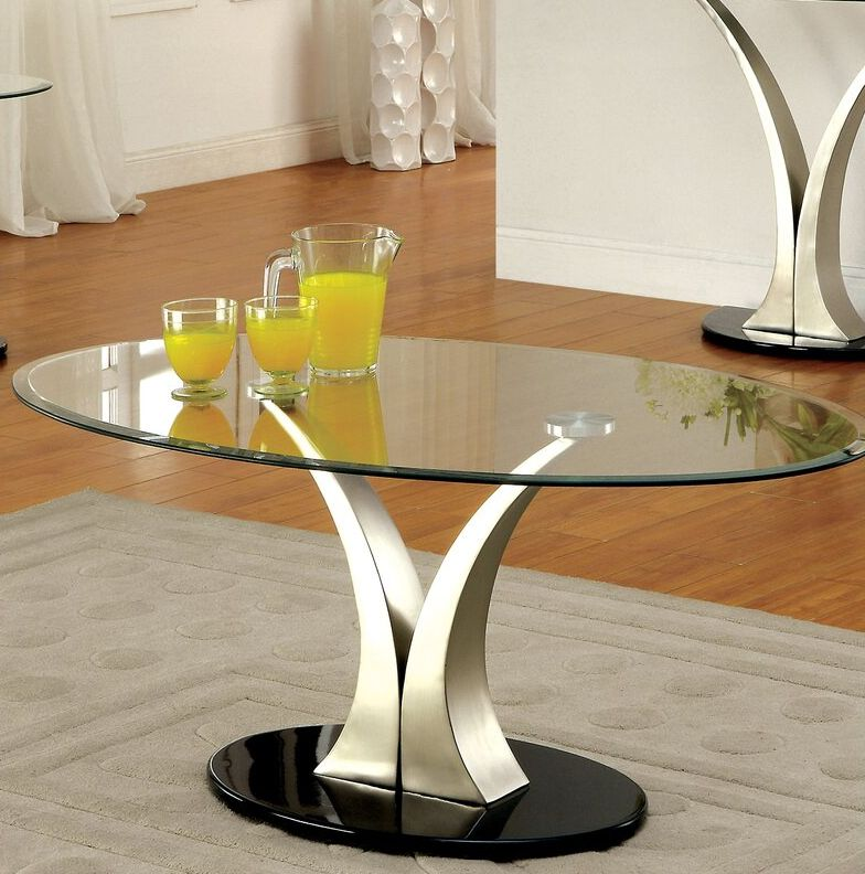 Fouts Abstract Oval Coffee Table
